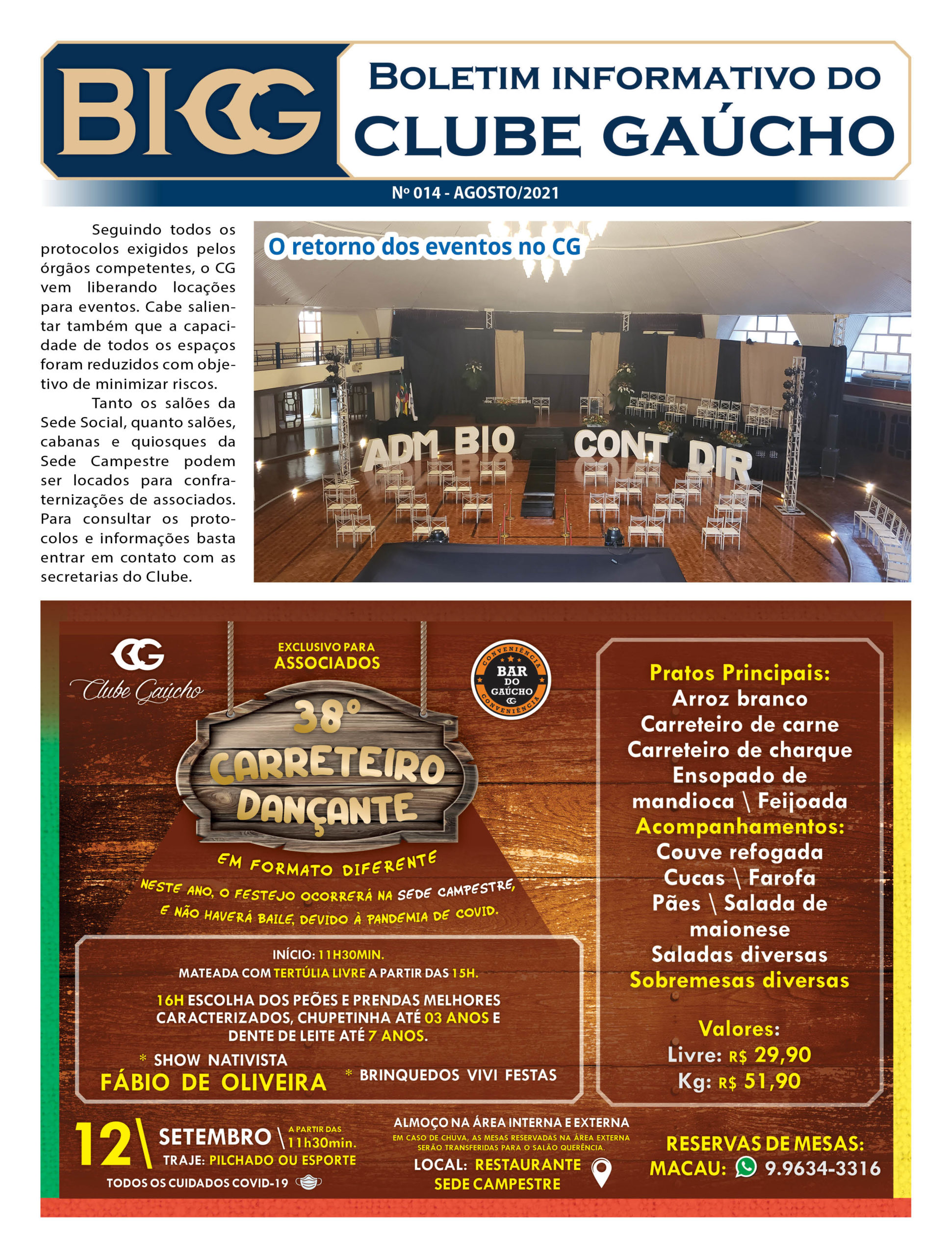 Boletim Informativo do Clube Gaúcho – 14ª Edição